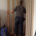 Glass door fitting